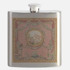 Ancient Victorian design in pastel tones Flask