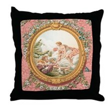 Ancient Victorian design in pastel tones Throw Pil