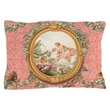 Ancient Victorian design in pastel tones Pillow Ca