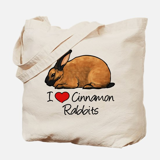I Heart Cinnamon Rabbits Tote Bag
