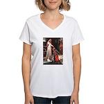 Princess & Cavalier Women's V-Neck T-Shirt