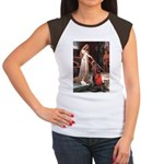 Princess & Cavalier Women's Cap Sleeve T-Shirt