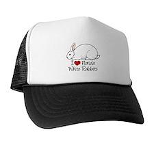 I Heart Florida White Rabbits Hat