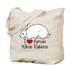 I Heart Florida White Rabbits Tote Bag