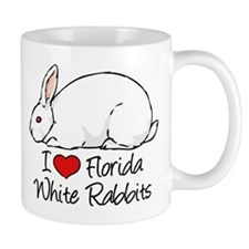 I Heart Florida White Rabbits Mugs