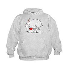 I Heart Florida White Rabbits Hoody