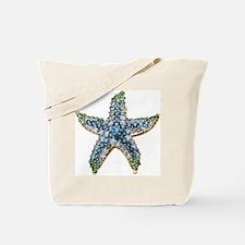 Rhinestone Starfish Costume Jewelry Sapph Tote Bag