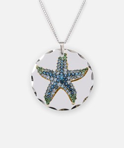 Rhinestone Starfish Costume  Necklace