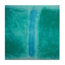 ROTHKO SHADES OF GREEN BLUE Tile Coaster