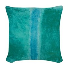 ROTHKO SHADES OF GREEN BLUE Woven Throw Pillow