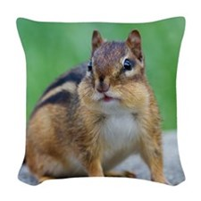 Chipmunk Woven Throw Pillow