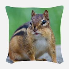 Chipmunk Woven Throw Pillow