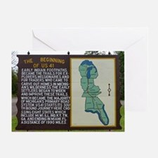 Highway US 41 Greeting Cards
