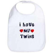 I Love MY TWINS Bib