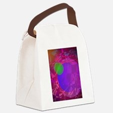 Green Apple and Dark Energy Canvas Lunch Bag