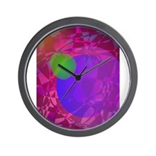 Green Apple and Dark Energy Wall Clock