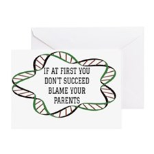 Blame Your Parents. Greeting Card