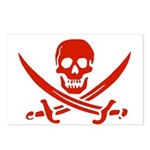 Pirates Red Postcards (Package of 8)