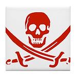 Pirates Red Tile Coaster