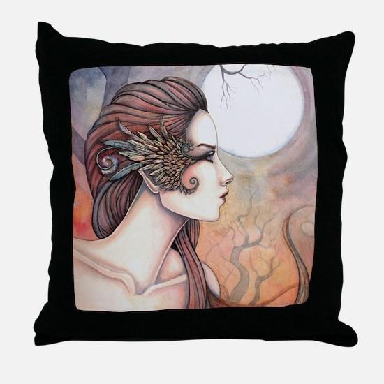 Spirit of Artemis Greek Goddess Fantasy Art Throw