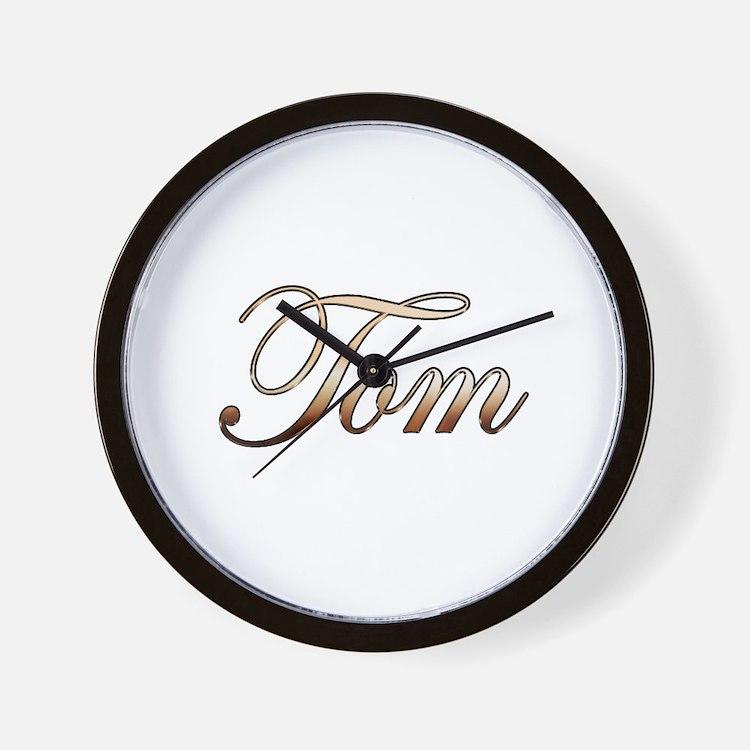 Gold name Tom Wall Clock