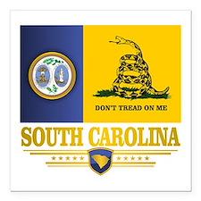 """South Carolina DTOM Square Car Magnet 3"""" x 3"""""""