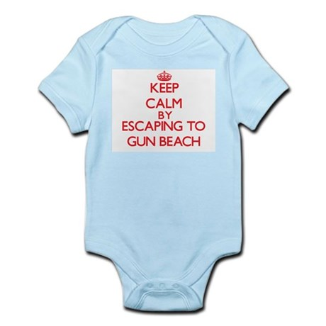 Keep calm by escaping to Gun Beach Guam Body Suit