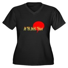 Do the right thing!  Women's Plus Size V-Neck Dark