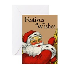 Santa Claus Is Knocking Festivus Cards (Pk of 10)