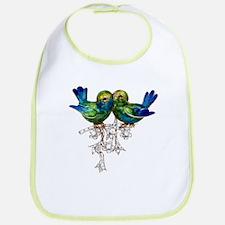Lovebirds Love Birds Vintage Costume Jewelry Bib