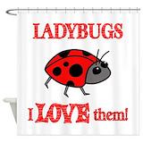 Ladybug Shower Curtains