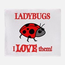 Ladybugs Love Them Throw Blanket