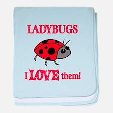 Ladybugs Love Them baby blanket