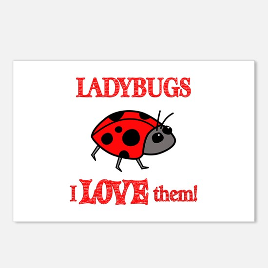 Ladybugs Love Them Postcards (Package of 8)