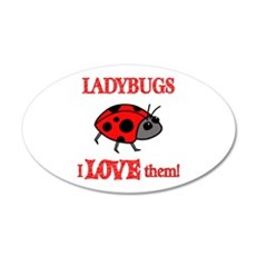 Ladybugs Love Them Wall Decal