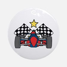 Formula One Racing Ornament (Round)