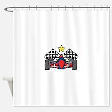 Formula One Racing Shower Curtain