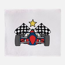 Formula One Racing Throw Blanket