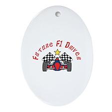 Future F1 Driver Ornament (Oval)
