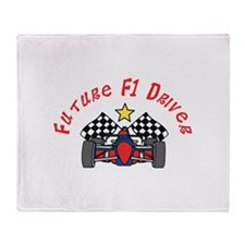Future F1 Driver Throw Blanket