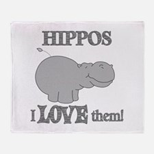 Hippos Love Them Throw Blanket