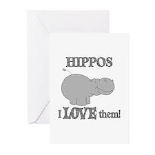 Hippos Love Them Greeting Cards (Pk of 20)