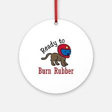 Burn Rubber Ornament (Round)