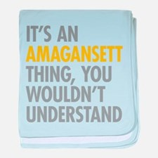 Its An Amagansett Thing baby blanket