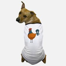 Cartoon Rolly Rooster Dog T-Shirt