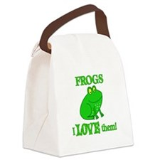 Frogs Love Them Canvas Lunch Bag