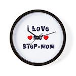 I Love MY STEP-MOM Wall Clock