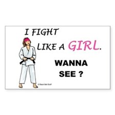 Fight Like A Girl Rectangle Decal