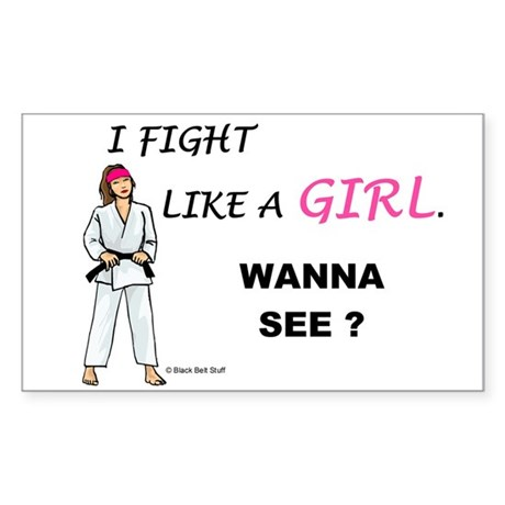 Fight Like A Girl Rectangle Sticker