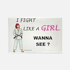 Fight Like A Girl Rectangle Magnet